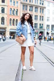 white dress and denim jacket fashionblog berlin