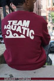 team aquatics sweatshirt by red tag brand when you see the tags
