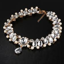 vintage chokers necklace images Collar crystal choker necklace pendant vintage simulated pearl jpg