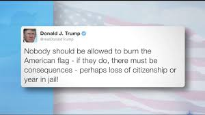 Illegal To Burn American Flag President Elect Trump Proposes Illegal Punishments For Flag
