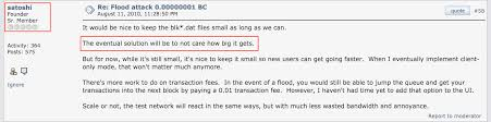 bitcoin forum the eventual solution will be to not care how big it the bitcoin