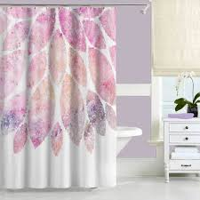 Pink Flower Shower Curtain Navy Blue And Coral Shower Curtain With Floral Design