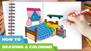girls bedroom coloring pages video l how to color bedroom l