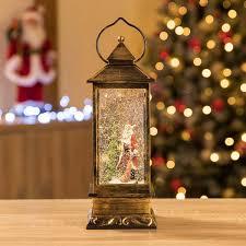 glitter filled water spinner father christmas lantern led santa