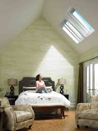 Master Bedroom Ideas Vaulted Ceiling Inspiration Lighting Glorious Double Fixed Velux Skylights For