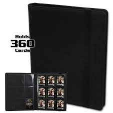 pocket photo album bcw gaming pro folio 9 pocket lx album black bcw supplies