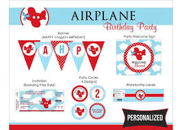 colors stylish airplane birthday invitations with card speach