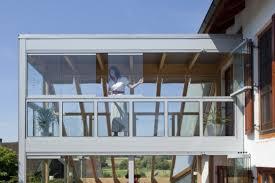 wintergarten balkon zweistöckige cabrio veranda integriert den bisherigen balkon als