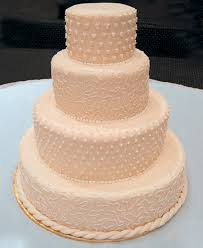 wedding cake icing marzipan with alternating royal icing design prepared for fresh