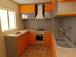 interior kitchen colors awesome orange gray color interior small kitchen design ideas