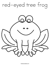 Red Eyed Tree Frog Coloring Page Twisty Noodle Frog Colouring Page
