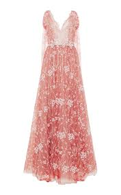 tulle embroidered v neckline gown by luisa beccaria moda operandi
