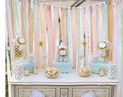 backdrop for baby shower table pastels lavender sequin fabric banner garland baby shower