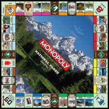monopoly map monopoly national parks edition usaopoly