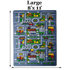 Car Play Rugs 8x11 City Map Fun Rug Car Play Activity Truck Track For Kids