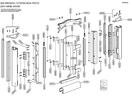 Daryl Shower Doors Daryl Arcadia 263 Penta Door Shower Spares And Parts National
