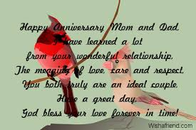 wedding wishes to parents anniversary messages for parents