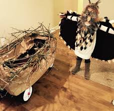 owl costume with wagon nest toddler halloween costume sibling