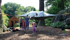 Tent In Backyard tentsile tree tent and hammock let you build a treehouse anywhere