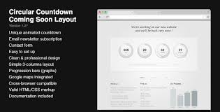 html layout under circular countdown modern coming soon layout by pixelworkshop