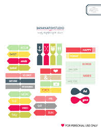 Printable Flags Free Printable Flags And Tags By Banana Fish Studio Via Kat U0027s