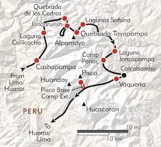 Lima Map Trekking In The Cordillera Blanca Itinerary U0026 Map Wilderness