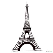 drawn eiffel tower pencil and in color drawn eiffel tower