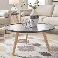 mid century round coffee table hayden mid century round coffee table by inspire q modern free