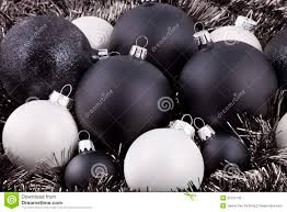 black white and taupe christmas decorations stock photo image