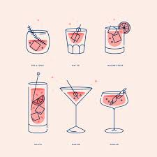 manhattan drink illustration cocktails square u2014 kenny coil illustration u0026 iconography