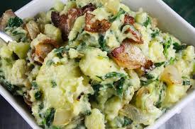 spinach bacon smashed potatoes this worthey
