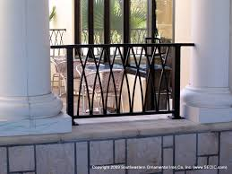 Art Deco Balcony by Commercial Railing Decorative Art Deco Glass Handicap Fdot
