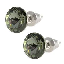 swarovski sede bižuterie šedé náuš swarovski crystals rivoli 8 mm