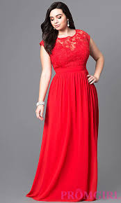 Red Cocktail Dress Plus Size Cap Sleeve Empire Waist Plus Prom Dress Promgirl