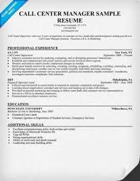 Sample Call Center Agent Resume by Sample Call Center Manager Resume