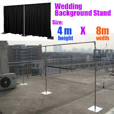 wedding backdrop frame free shipping wedding stainless steel pipe 4m 8m wedding backdrop