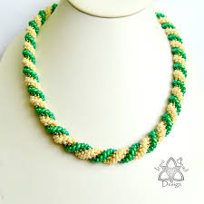 bead rope necklace images Double spiral rope iceni bead design jpg
