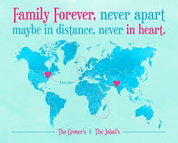 quotes about distance with family long distance family friend