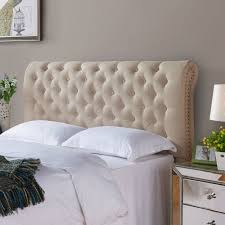 Tufted Upholstered Headboard Better Homes Gardens Rolled Tufted Headboard Sand