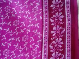 Indian Curtain Fabric Pink Sari Saree Fabric Block Print Fabric Soft Cotton Fabric