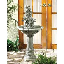 amazon com playful cherubim cherub garden water fountain