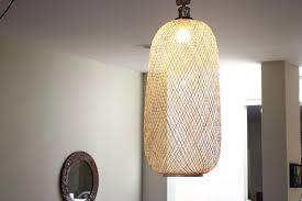 Bamboo Ceiling Light Lumina Bamboo Handwoven Pendant Ls Sphere Oblong Modish Store