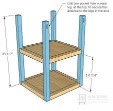 West Elm 2x2 Console Desk Ana White Parson Tower Desk Diy Projects