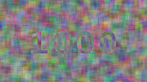 numbers from 0 to 1000 with random color patterns youtube