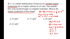 rotational kinematics problem