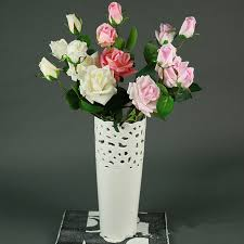 Fake Flowers For Wedding Aliexpress Com Buy 3 Heads Artificial Real Touch Rose Flowers