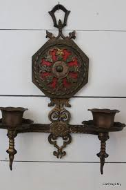 Chandelier Candle Wall Sconce Ornate Brass Wall Sconces Candle Holders Victorian Gothic Lighting