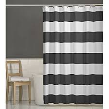 Shower Curtain Striped Maytex Porter Fabric Shower Curtain Grey 70 X 72