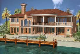 coastal house plans for a 6 or 7 bedroom mediterranean home