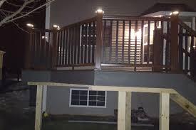 trex post cap lights clam shell trex deck with trex transcend vintage lantern railings